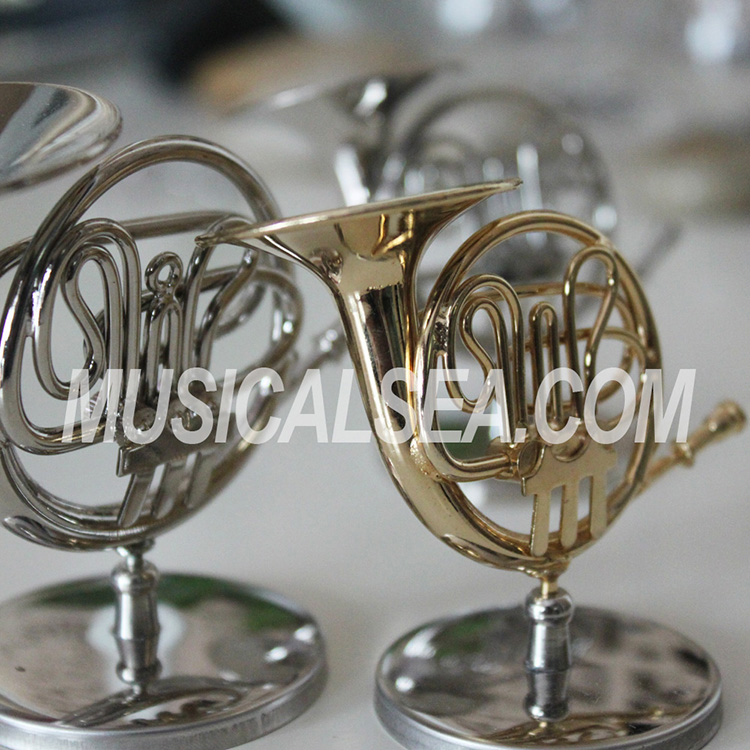 mini metal french horn