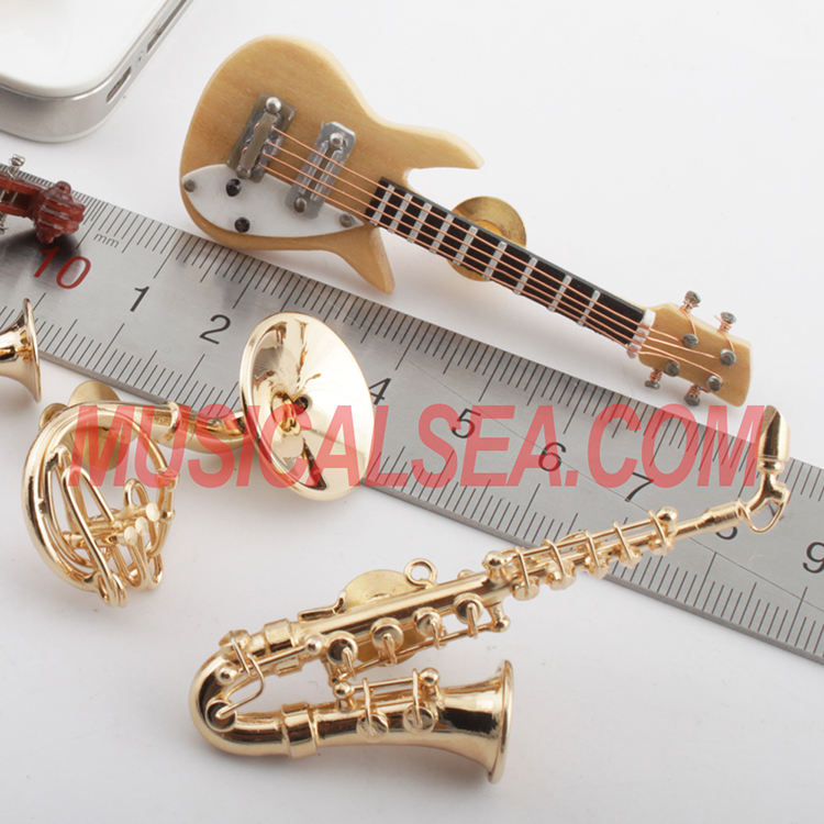 miniature musical instrument brooches
