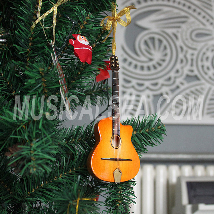 Unique miniature guitar christmas tree orname