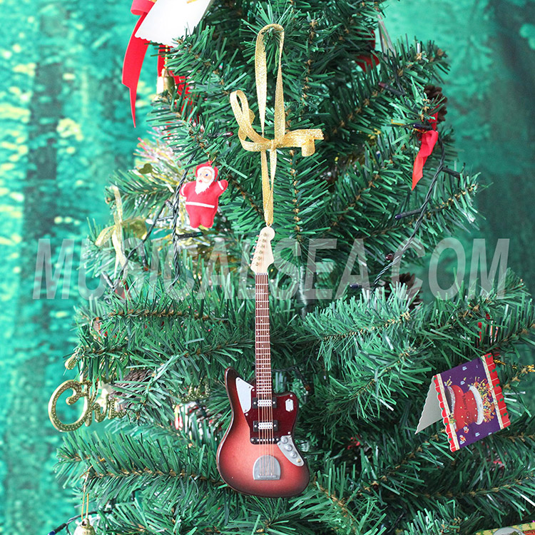 Miniature guitar Xmas gift christmas tree orn
