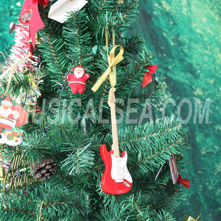 Wholesale miniature wooden guitar christmas t
