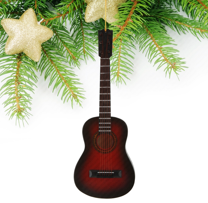 Miniature Black&Red Guitar-TGU3