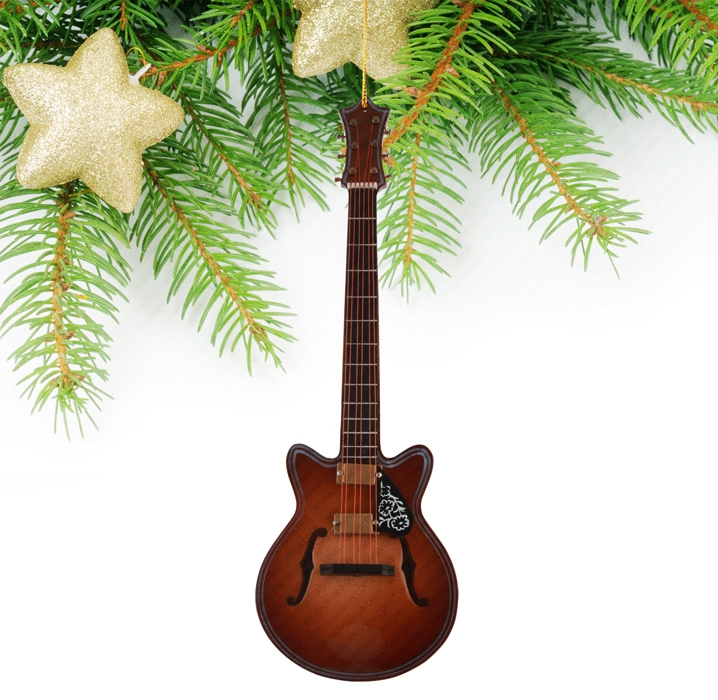 Miniature Brown Guitar-TEG19