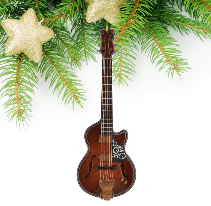 Miniature Brown Guitar-TEG21