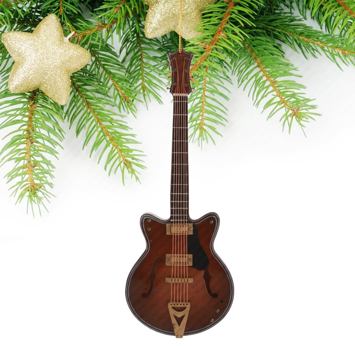 Miniature Dark Brown Guitar-TEG20