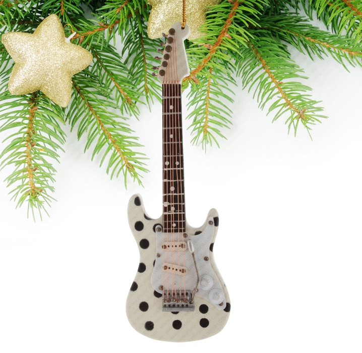 Miniature Polka Dot Guitar-TEG28