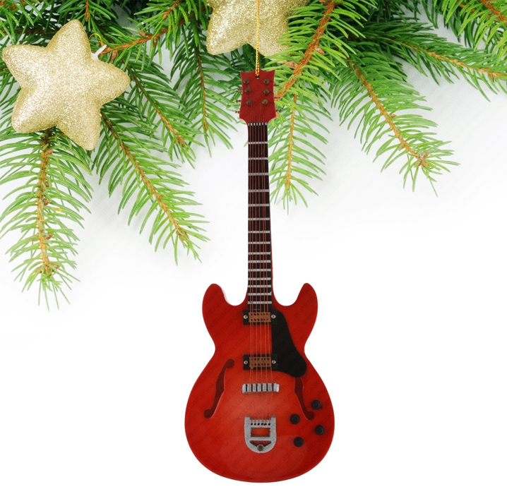 Miniature Red Guitar-TEG33