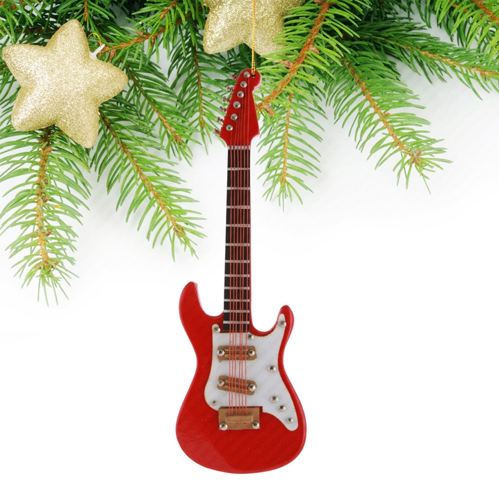 Miniature Red Guitar-TEG34