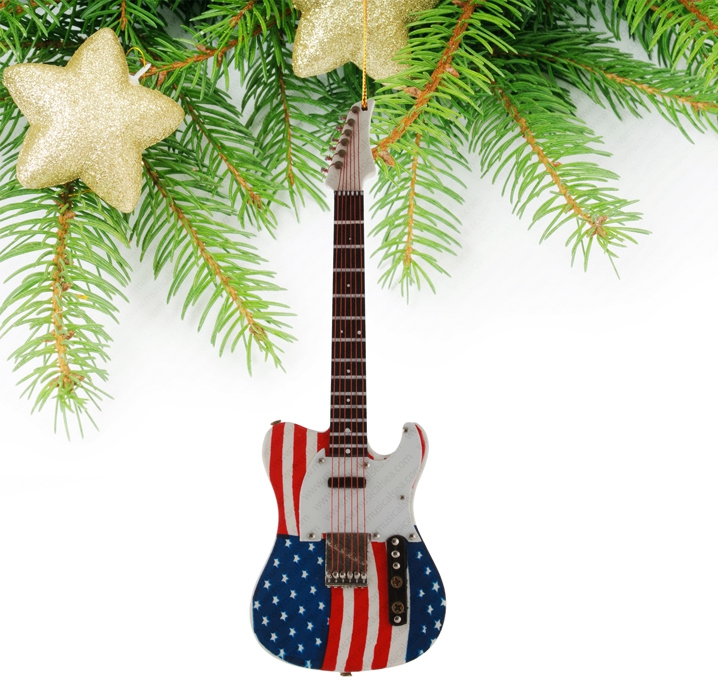 Miniature Stars and Stripes Guitar-TEG40