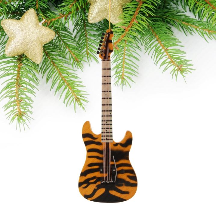 Miniature Tiger skin Guitar-TEG42