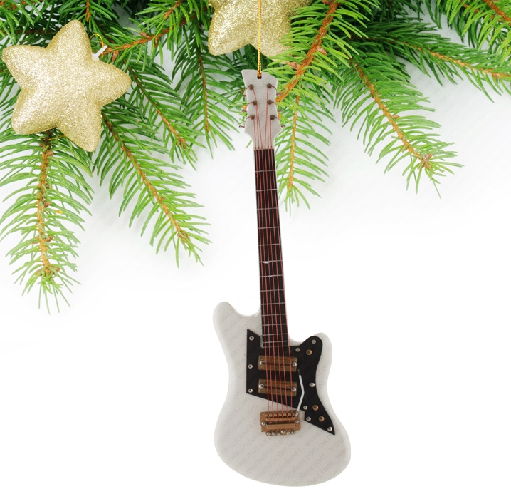 Miniature White Guitar-TEG44