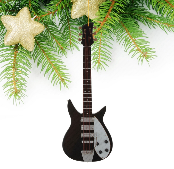 Miniature White&Black Guitar-TEG11