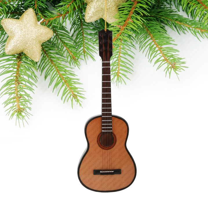 Miniature classical guitar christmas tree orn