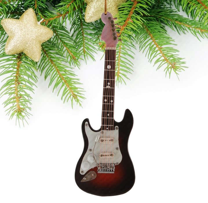 Miniature Black&Red Guitar-TEG2