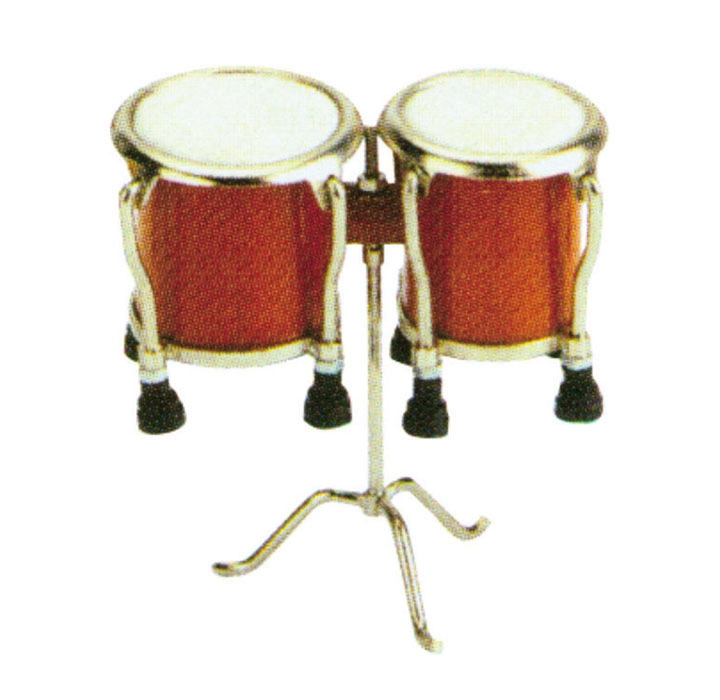 Miniature Bongo with legs Musical Instrument Replica Gift