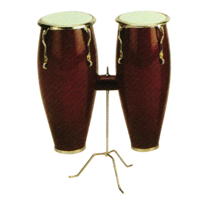 Miniature Double Conga Musical Instrument Replica Gift