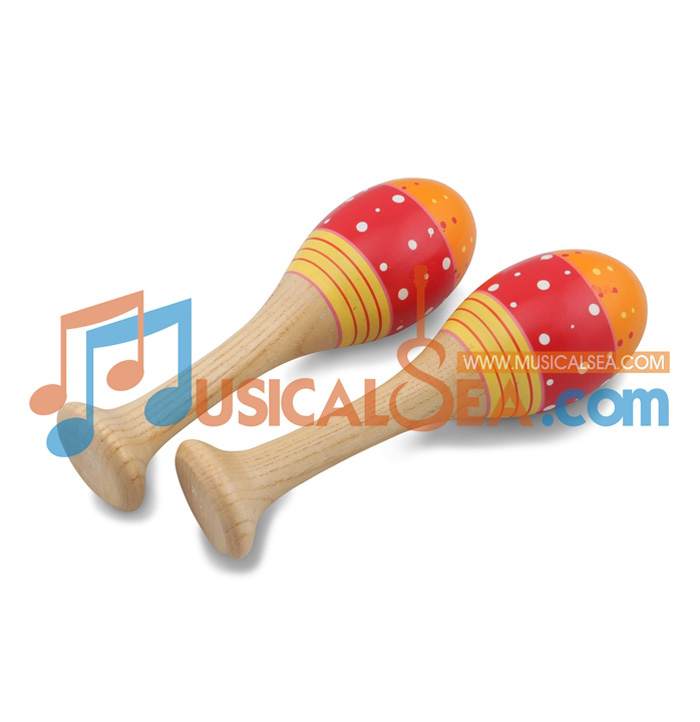 MS-ORMA27-29-Colorful Wooden Maracas ORFF Mus