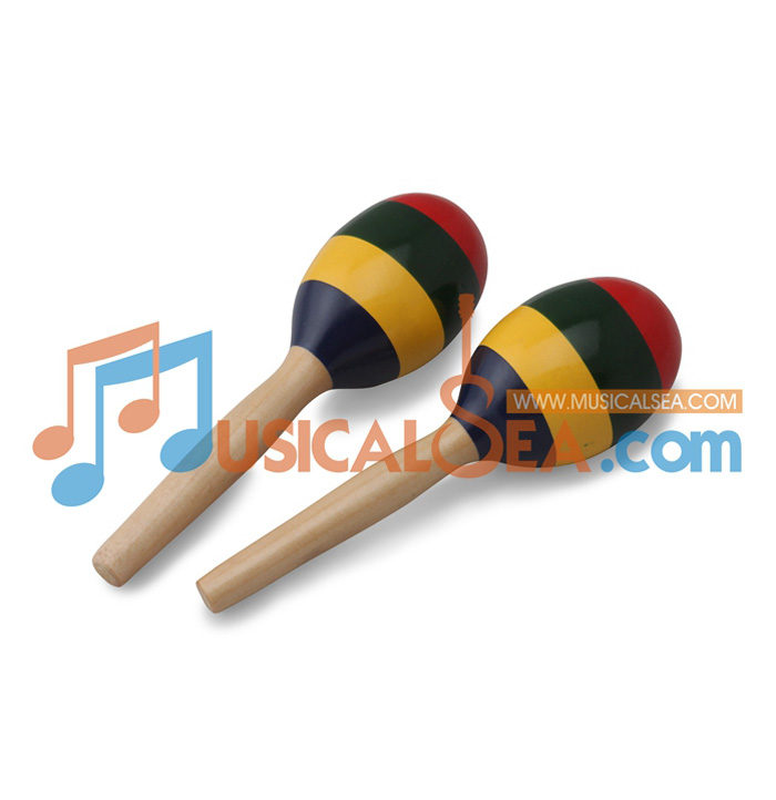 MS-ORMA36-39-Colorful Wooden Maracas ORFF Mus