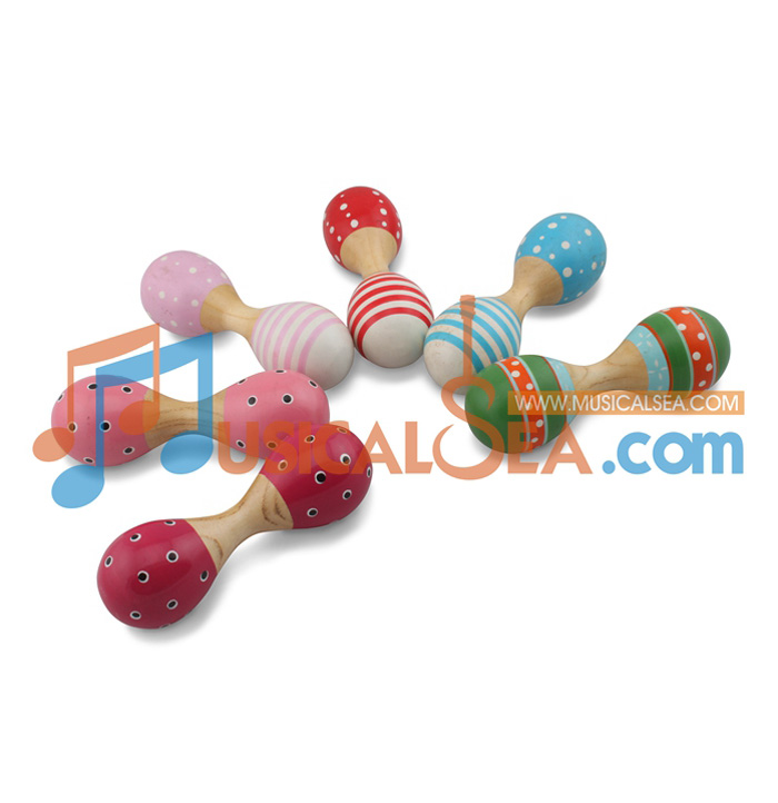 Colorful Wooden Maracas,ORFF Musical instrument,Kid Musical Toy