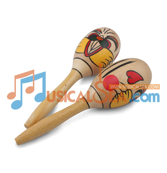 MS-ORMA6-16-Colorful Wooden Maracas ORFF Musi