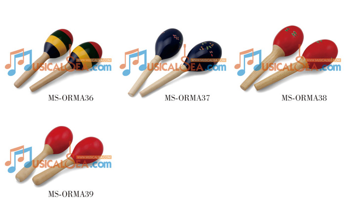 Colorful Maracas, Wooden Maracas, ORFF Musical instrument, Kid Musical Toy