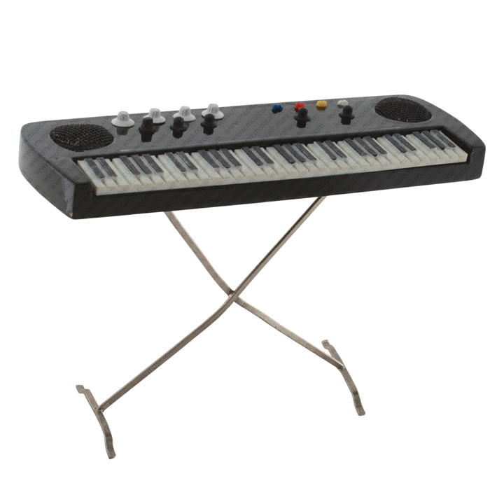 Miniature black electric organ