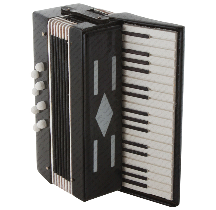 Miniature black electric organ Musical Instrument Replica Gift